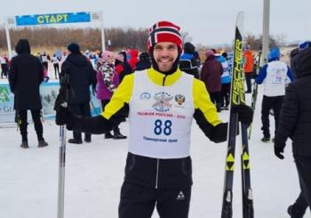 Заместитель руководителя офиса БК «Авангард» в г. Владивосток Шулика Алексей принял участие во всероссийской массовой гонке «Лыжня России – 2021»
