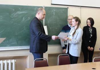 21 февраля были вручены грамоты студентам кафедры дизайна ВГУЭС